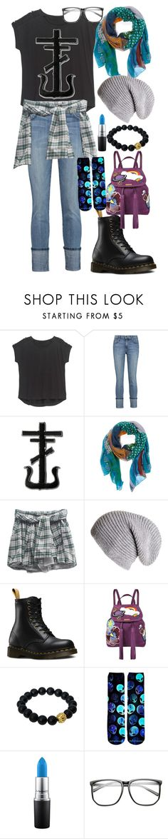 """""""Another random outfit I just wore :P"""" by diana-littlefield ❤ liked on Polyvore featuring Bobeau, Current/Elliott, Black, Dr. Martens, Marc Jacobs, Berluti, MAC Cosmetics and ZeroUV"""