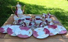 China Purple & White Vintage Tea Set Made in by BellesTeaShop,