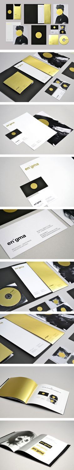Enigma Personal Identity by Marina Zertuche Black and Gold at first sight, perfect contrast for an outstanding Identity.