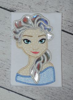 Frozen Elsa 2 Applique Embroidery Design 4x4 5x7 by AppliqueCandy, $4.00