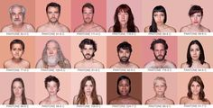 In an ambitious ongoing photo series by Spanish artist Angelica Dass, the photographer seems to be looking for subjects whose skin tone reflects specific Pantone colors. The project, titled Humanae, takes an 11x11 pixel sample from the subject's face and fills the background with that color and accompanies the image with the Pantone alphanumerical code below it, just like a Pantone swatch!