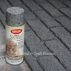 DIY faux brick wall (using styrofoam and stone-effect paint) ***This would be SO CUTE to make a 'fireplace' for Christmas stocking if you don't have a real fireplace!