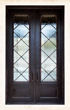 Our contemporary wrought iron doors will give your front door the unique look and appeal that you seek. At Colonial Iron Doors we are ready to listen and prepared to bring your vision to life. Double Front Entry Doors, Front Door Entryway, Iron Front Door, Exterior Front Doors, House Front Door, House Doors, Entrance Doors, Patio Doors, Entryway Decor