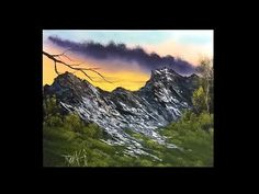Painting With Magic season 4 ep 9 (High on the mountain) Acrylic Painting Lessons, Acrylic Painting Tutorials, Painting Videos, Acrylic Art, Easy Landscape Paintings, Scenery Paintings, Mountain Paintings, Simple Oil Painting, Window Art