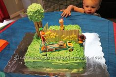 Cool Birthday Cake Idea: Phineas and Ferb Build a Racecar...