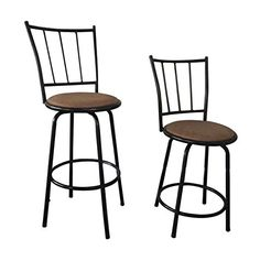 Black Finish Scroll Back Adjustable Metal Swivel Counter Height Bar Stools (Set of Extra Tall Bar Stools, Bar Stools With Backs, Counter Height Bar Stools, Metal Bar Stools, Swivel Bar Stools, Luxury Home Furniture, Furniture Deals, Stool Height, Dining Room Bar