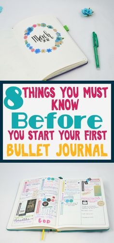 Starting your first bullet journal? Read the lessons I learned from my first bujo. Find ideas and inspiration to keep moving forward when it gets tough. Bullet Journal For Beginners, Bullet Journal Tracker, Bullet Journal How To Start A, Bullet Journal Spread, Bullet Journals, Journal Layout, Journal Prompts, Journal Pages, Journal Ideas