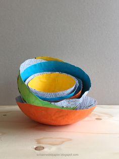 DIY: Bunte Schalen aus Papier by schaeresteipapier: