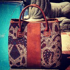 Batik Handbag - Laras Series made from batik Jogja.