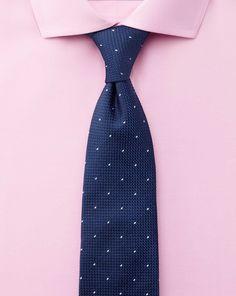Slim fit cutaway collar non-iron twill pink shirt #formalshirt #pink #blue…