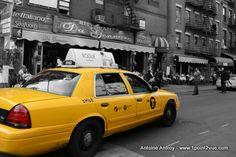 taxi New York desaturation partielle (The Gimp)