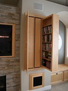 Best Ten Pictures of Cool DVD Storage Ideas: Cool Dvd Storage Ideas Using Pull Out Shelves In Modern Home Cinema ~ nexusipeblog.com Furniture Inspiration