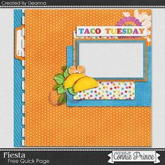 FREE Fiesta Quick Page Freebie By Deanna from Connie Prince