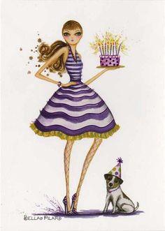 The Birthday Girl & Pup - Bella Pilar