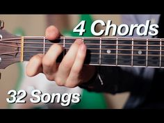 4 Chords, 32 Songs on Acoustic Guitar! Easy Guitar, Guitar Tips, Guitar Songs, Music Songs, Basic Guitar Lessons, Guitar Lessons For Beginners, Piano Lessons, Music Lessons, Guitar Strumming
