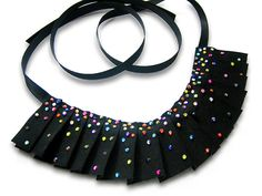 Black Hand Pleated RuffStyle with Colorful by SparkleBeastDesign, $21.99
