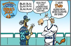 two super bowl rings by Drew Litton 9/21/14 just before the Broncos play the Seahawks.