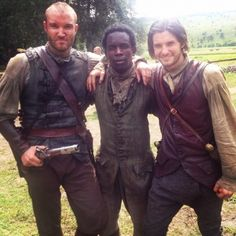 Ben Barnes - on set of Sons of Liberty in Romania