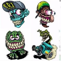 New stickers by my friend coming soon on my Etsy shop! Graffiti Doodles, Graffiti Art, Ed Roth Art, Graffiti Alphabet Styles, Pinstripe Art, Skate Art, Horror Movie Characters, Garage Art, Lowbrow Art