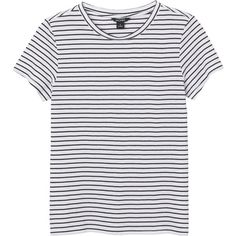 Sine striped tee ($14) ❤ liked on Polyvore featuring tops, t-shirts, shirts, striped t shirt, t shirt, stripe tee, round neck top and tee-shirt