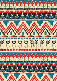 Tribal inspired print…