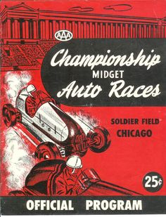 Midget Auto Races  at Soldier Field, Chicago...1948 (click to Enlarge)