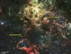 The 'lighthouse' from another galaxy: Brightest ever gamma-ray pulsar is the first to be spotted OUTSIDE the Milky Way | Daily Mail Online