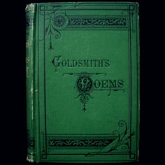 Goldsmith's Poems Plays and Essays 19th Century