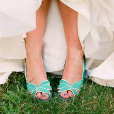 Blue wedding shoes :)