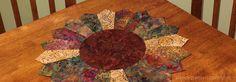 Sew a Dresden Sunflower from Fabric Scraps