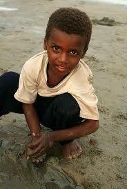 Afro-Iranian boy (habsi) in Iran
