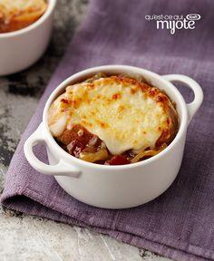 Soupe à l'oignon gratinée au bacon #recette