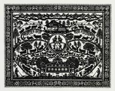 Rita Hochuli  —   Alpaufzug (1024×815) Cross Stitch Silhouette, Cross Stitching, Paper Cutting, Typography Design, Switzerland, Traditional, Architecture, Silhouettes, Polish