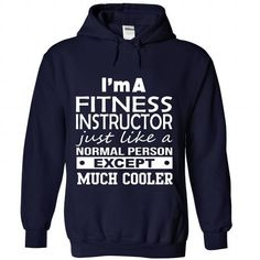 FITNESS INSTRUCTOR T Shirts, Hoodies, Sweatshirts. GET ONE ==> https://www.sunfrog.com/No-Category/FITNESS-INSTRUCTOR-5559-NavyBlue-Hoodie.html?41382