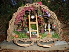 The Berry Nook Fairy House by Fairy Patch, via Flickr