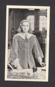 Greta Garbo Queen Christina Scarce 1940 Cinema Cavalcade Cigarette Card #235