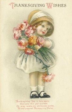Ellen Clapsaddle ,antique Thanksgiving postcard.