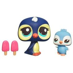 LITTLEST PET SHOP – CUTEST PETS – SNACK TIME WITH MOMMY - Mommy Penguin and Baby Penguin Set