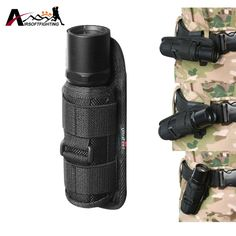 Tactical Molle 360 Degrees Rotatable Flashlight Holster