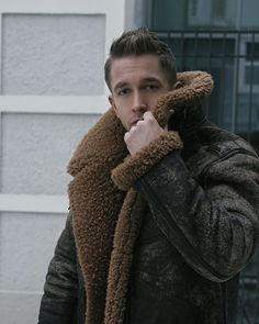 Maximilian Konrad - Man in Sheepskin Shearling Jacket