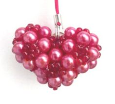 Beaded Rounded Heart 3D PATTERN by Laura