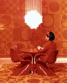 Verner Panton Chair, Wall & Floor Textiles, Chandelier