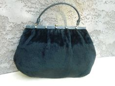 Vintage Black Purse / Black Clutch / Black by VintageBaublesnBits, $65.00