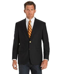 Great blazer/jeans combo...Perfect for business travel (would pair well with some burgundy or cognac monk-strap shoes).