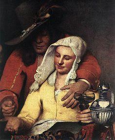 Johannes Vermeer    Dutch Baroque Painter  1632 - 1675  Self Portrait of Johannes Vermeer