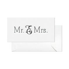 Mr. & Mrs. Card by Sugar Paper (via SugarPaper.com)