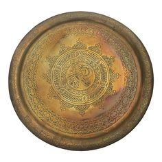 Teetisch mit Holzgestell Gold 50cm