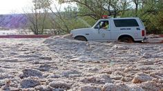 Over a Foot of Hail Swamps New Mexico Town - weather.com