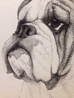 English Bulldog by Nickinoos on Etsy