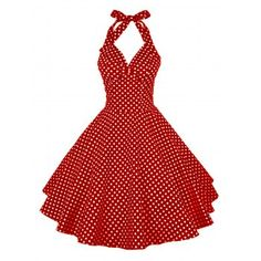 Polka Dot Halter Pin Up Dress Cheap Fashion online retailer providing customers trendy and stylish clothing including different categories such as dresses, tops, swimwear. Pin Up Outfits, Pin Up Dresses, Cheap Dresses, Stylish Outfits, Casual Dresses, Fashion Dresses, Dress Outfits, Halter Dress Casual, Fashion Clothes